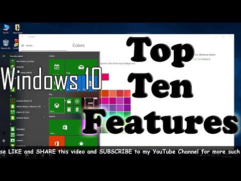 TEN BEST FEATURES OF WINDOWS 10 | TOP 10 FEATURES