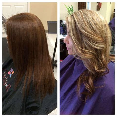 brown hair  blonde hair