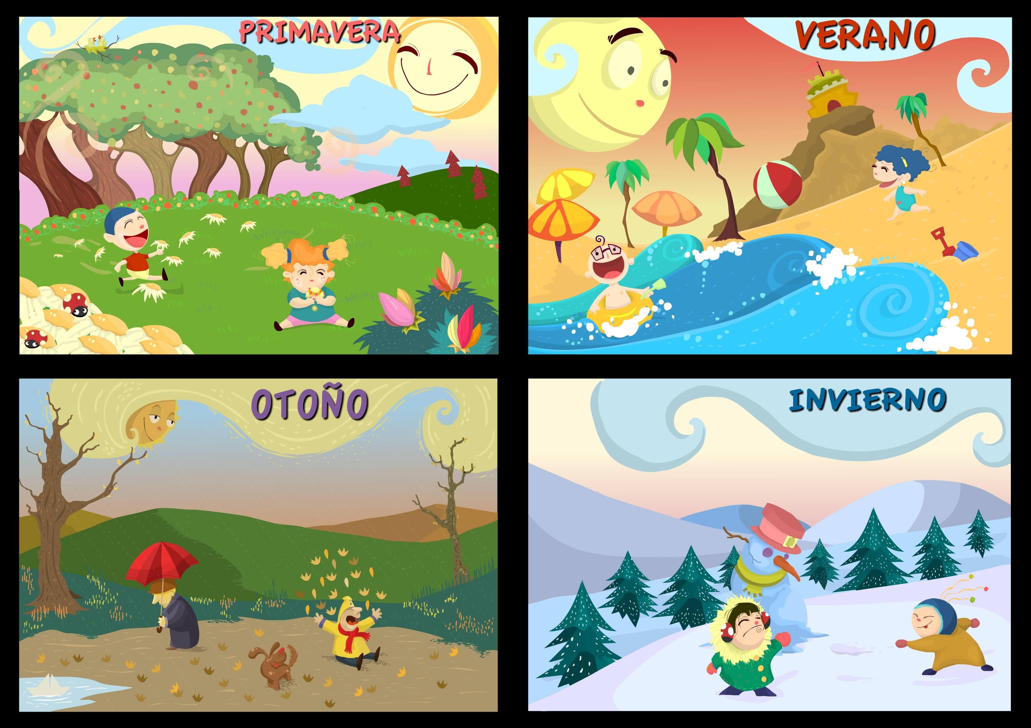 Resultado de imagen para las estaciones para niños de primaria