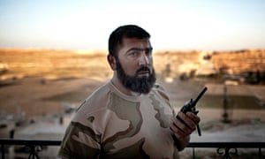 Abu Assad, rebel commander of Aleppo's tunnel forces