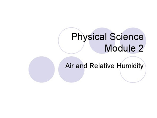 Module 2   air and humidity intro