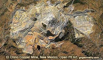 El Chino Copper Mine, Silver City, New Mexico, Open Pit Mining Art