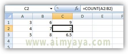 Gambar: Cara melihat rumus/formula melalui  formula bar  di microsoft excel