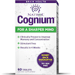 Natrol Cognium Brain Health Supplement Tablets - 60 count