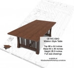 Mission Style Dinign Table Woodworking Plan - fee plans from WoodworkersWorkshop® Online Store - Mission style furniture,solid wooden tables,yard art,painting wood crafts,scrollsawing patterns,drawings,plywood,plywoodworking plans,woodworkers projects,workshop blueprints