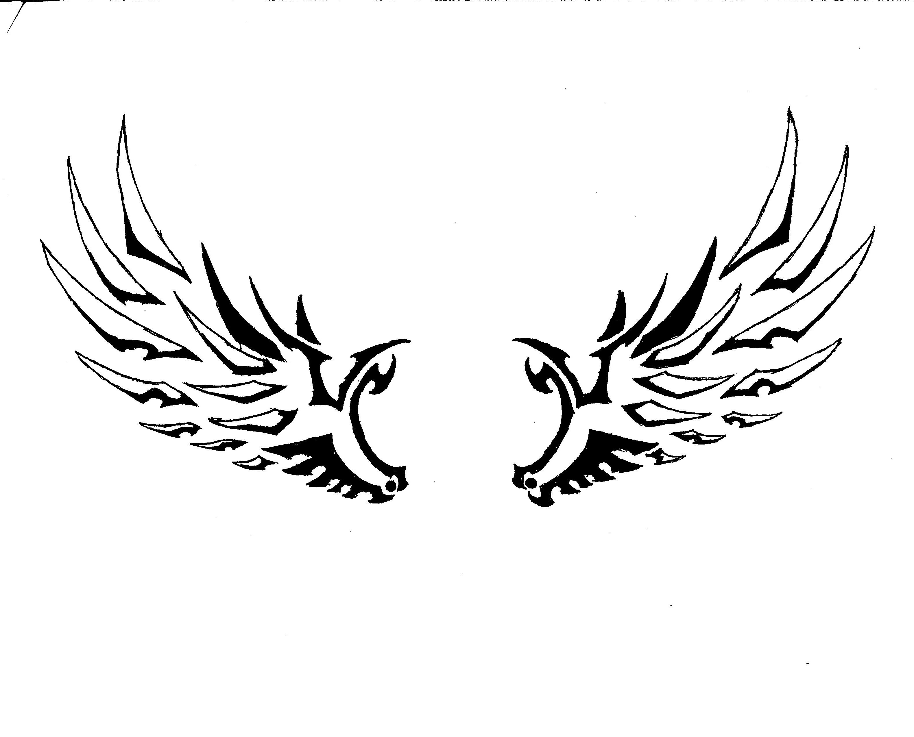 Free Simple Angel Wings Drawing Download Free Clip Art Free Clip