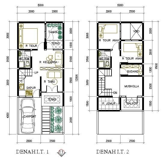 Desain Rumah Minimalis Ukuran 4x12 Gambar 08