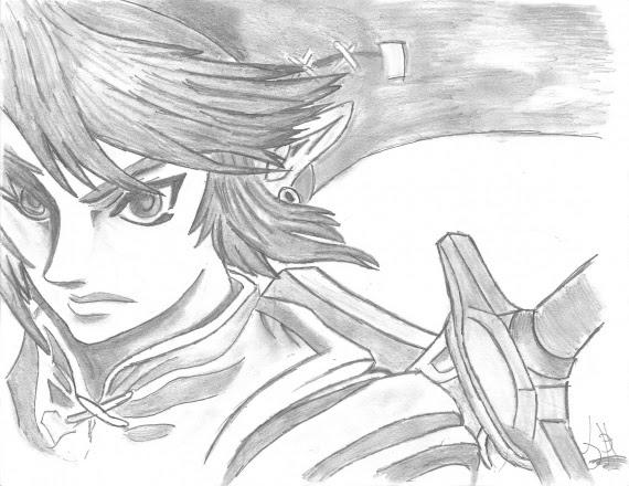Dessin Zelda Et Link Dernier L
