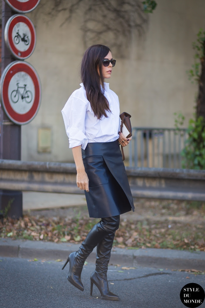Evangelie Smyrniotaki Street Style Street Fashion Streetsnaps by STYLEDUMONDE Street Style Fashion Blog