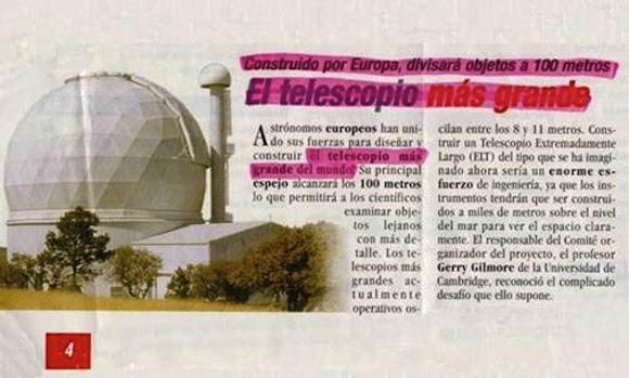 Hombre, yo a cien metros también veo algo...¿tendré un telescopio metido en el ojo?