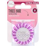 invisibobble Extra Hold Hair Elastics - The Secret Purple - 3ct