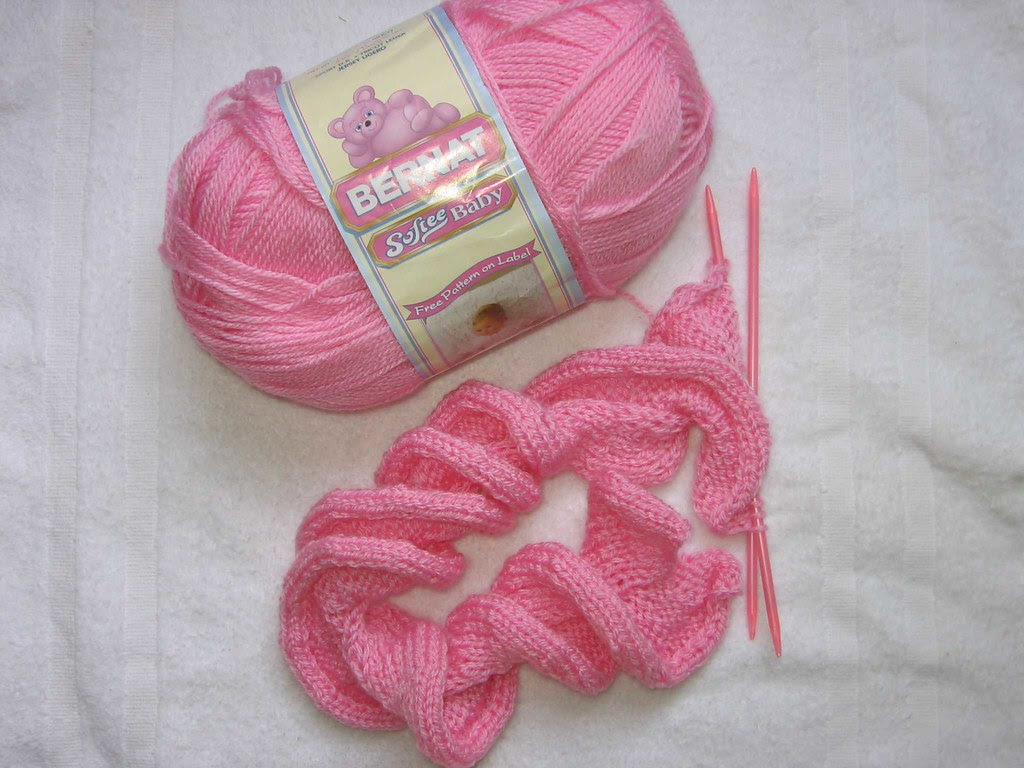Photo of pink Ruffles scarf