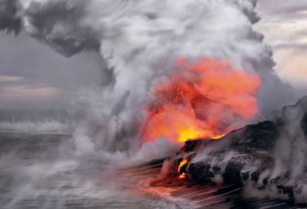 volcanes de lava