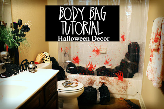 Body Bag - DIY Halloween decorations - DEAD BODY tutorial - Inexpensive and EASY - decor ideas - RECYCLE/Upcycle