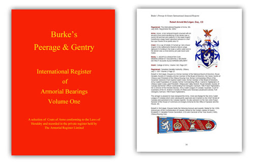 """Burke's Peerage & Gentry International Register of Armorial Bearings"""