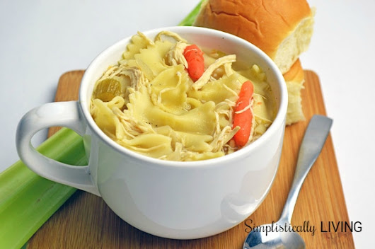 Slow Cooker Homemade Chicken Noodle Soup Simplistically Living