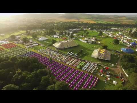 Beautiful Sunrise over Electric Picnic 2016 [Drone Video]
