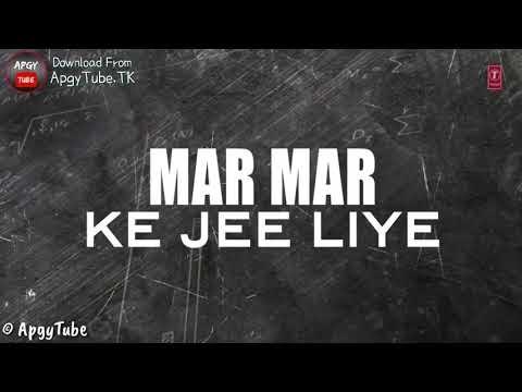 Saari Umar Hum , Mar Mar Ke Jee Liye - Give Me Some Sunshine - 3 Idiots - Lyrical Status Video | HD