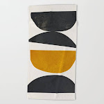 abstract minimal 23 Beach Towel by ThingDesign - Beach Towel