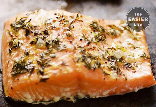 Garlic and Thyme Skillet of Salmon