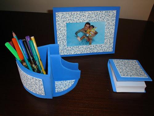 Kit para escritório  (outra opção para o dia dos pais)