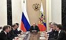 Оперативное совещание спостоянными членами Совета Безопасности.