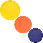 Pyrex Replacement Lids for Smart Essentials Mixing Bowls - 325-PC 2.5qt Yellow, 323-PC 1.5qt Orange & 322-PC 1qt Blue