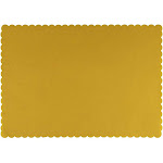 Juvale Paper Placemats - 200-Pack Yellow Bulk Disposable Placemats, Colored Tabletop Mats with Wavy Scalloped Edge, Decorative Birthday Party Supplies, Baby