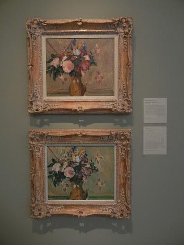 DSCN7767 _ Vase of Flowers (After Cézanne) (t), 1896, Odilon Redon (1840-1916), & Vase of Flowers, 1880-1881, Cézanne (1836-1906), Norton Simon Museum, July 2013
