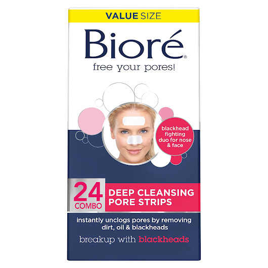 Amazon.com: Biore Deep Cleansing Charcoal Pore Strips for Nose, 6 Count: Beauty