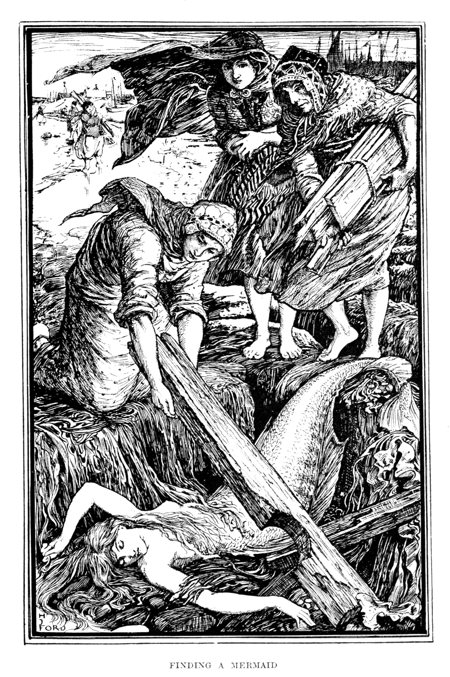 Henry Justice Ford - The red book of animal stories selected and edited by Andrew Lang, 1899 (illustration 3)