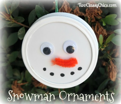 Kid's Crafts: Easy-to-Make Snowman Ornaments - The Classy Chics