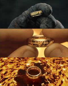 The One Ring in Peter Jackson's films.