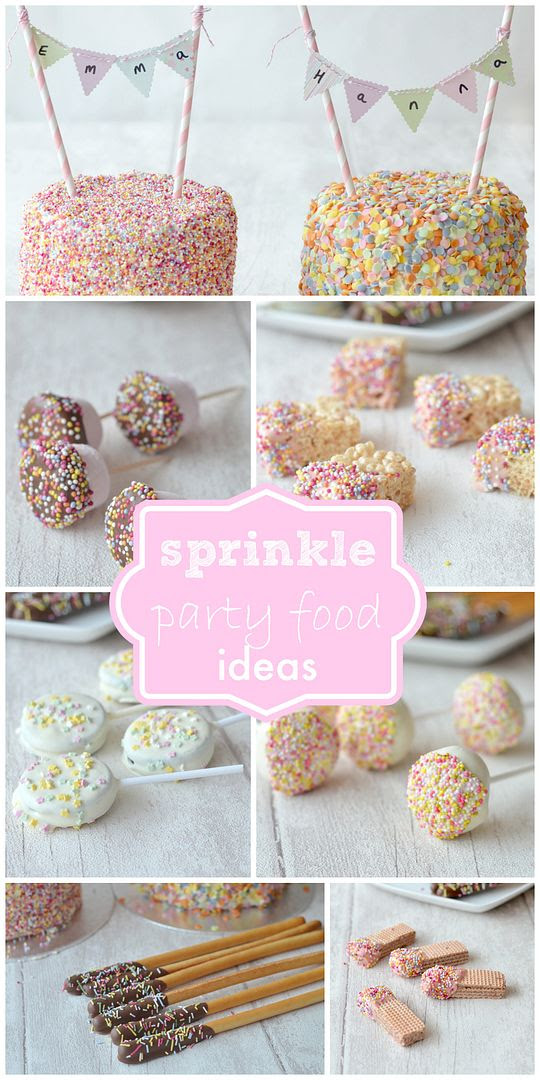 Sprinkle Party and a 5 layer Sprinkle Covered Ombre Cake