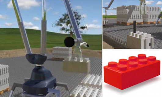 Could this giant 'Lego' help us build REAL houses?