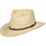 Dorfman Men's Scala Hats Safari Vent Pacific Panama Outback Natural Hat Large, White (New without Tags)