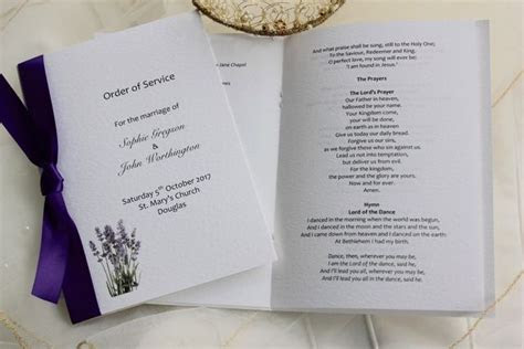 Order of Service Template   wedding order of services