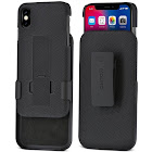 Aduro Combo Shell & Holster Case for iPhone X/XS, Black