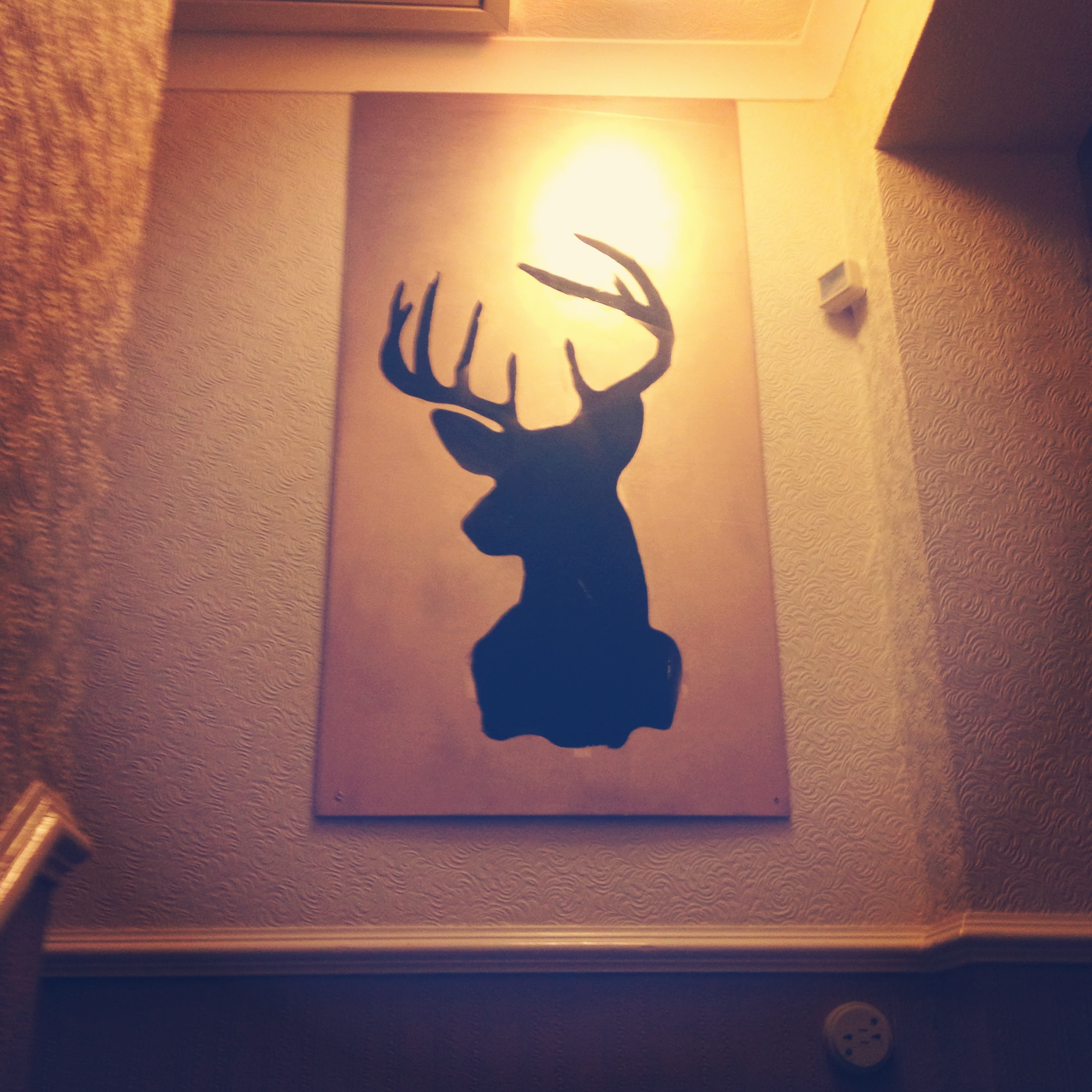 DIY Silhouette Deer Wall Decor | What I Made Earlier