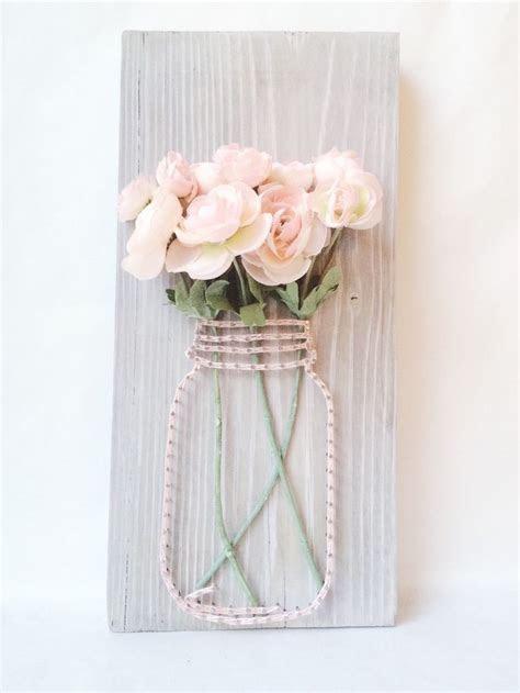 Mason jar string art, string art, rustic wedding decor