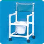 Standard Line Slant Seat Shower Chair Commode - VLSC16P