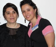 Leyla Zana (left) and Ava Homa