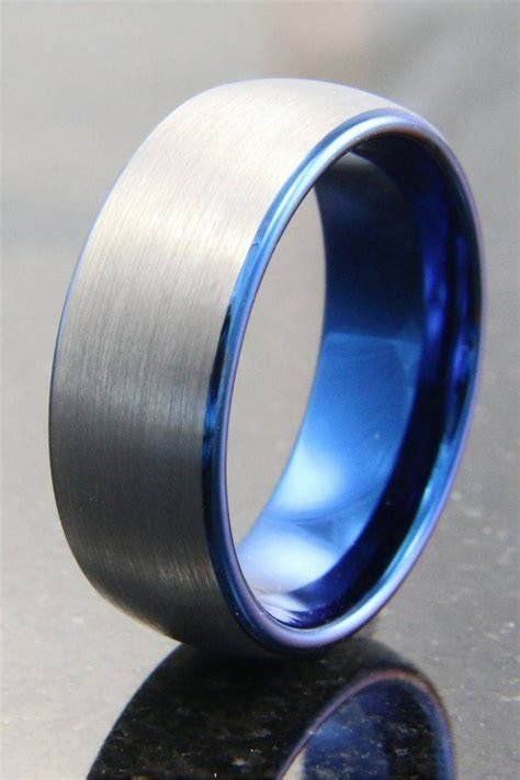 15 Photo of Blue Wedding Bands For Him