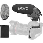 Movo Photo On-Camera Shotgun Microphone with 2-Step High-Pass VXR3031