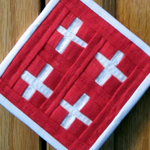 red crosses quilting