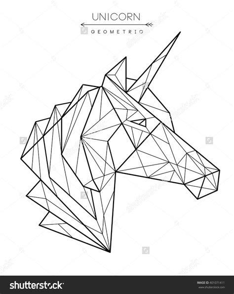 risultati immagini  geometric unicorn tatoo