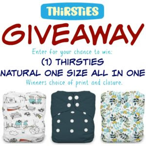 Thirsties Natural One Size All In One Diaper Giveaway!