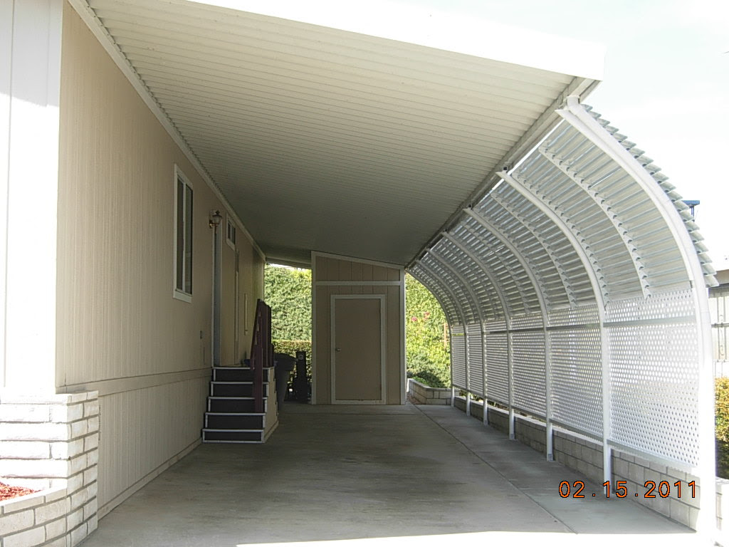 Mobile Home Angled Carport Supports Garage Car