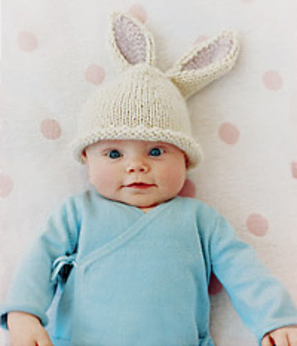 Bunny Beanie Free Knitting Pattern | Free Quick Easter Knitting Patterns at http://intheloopknitting.com/free-quick-easter-knitting-patterns