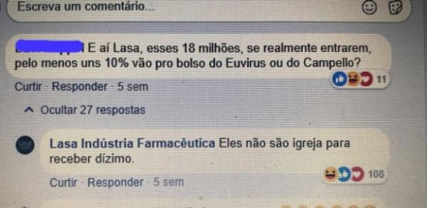 Perfil da Lasa no Facebook parou de interagir faz três semanas